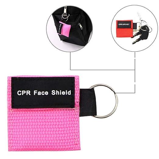 Amazon.com: CPR Máscara llavero anillo de emergencia Escudos ...