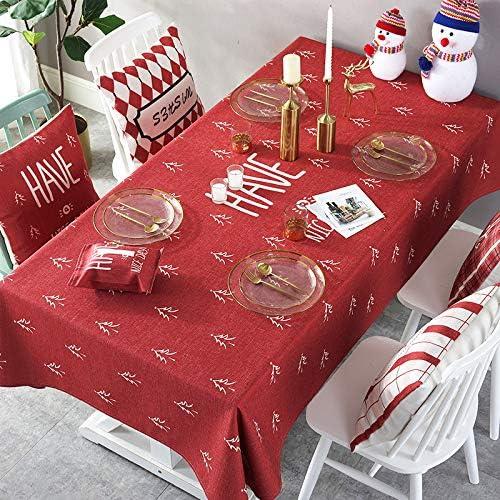 Serie Roja De Navidad Mantel Tela Pequeña Mesa De Café Fresca Tv ...