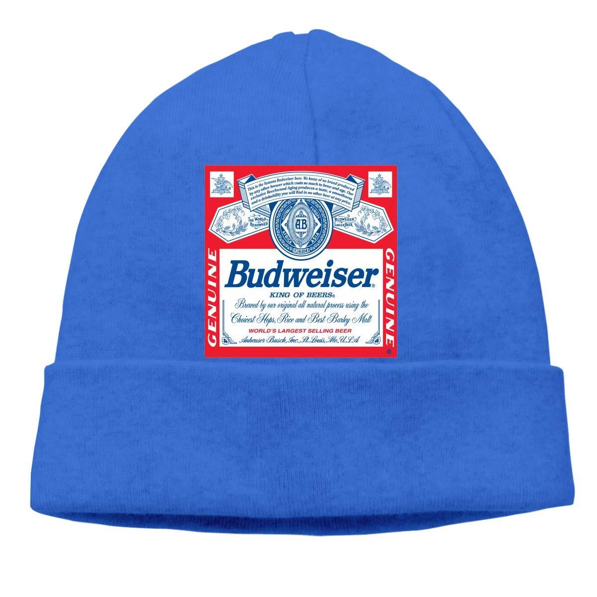 ARTOPB Fashion Funny 2019 Warm Winter Beanie Mens Womens Budweiser King of Beer Beanie Hats Winter Outdoor Fashion Slouchy Warm Skull Caps
