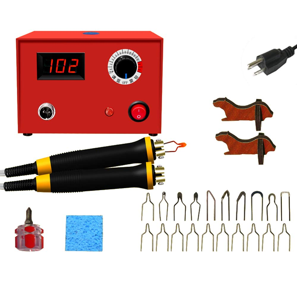 EU Plug KKmoon LH50-SG-2T Pluma de Pirograbado de Madera Kit de M/áquina de Pluma Multifuncional 220V AC Kit de Pirograbador con 20pcs Puntas y 1pc Pluma DIY Artesan/ía