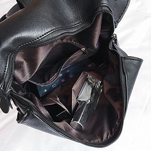 Bag Large YSMYWM PU Bag Casual Leather Backpack Bag School Black Womens Capacity Satchel Shoulder Travel grW4r1