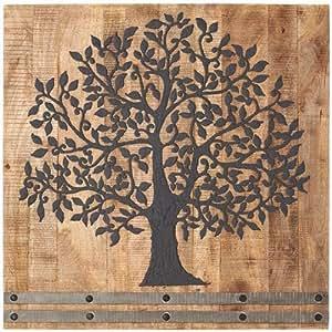 "Arbor Tree Of Life Wall Art, 36""SQUAREx2.25""D, FLINT CHARCOAL"