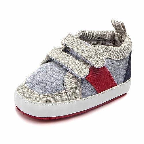 QUICKLYLY Primeros Pasos Patucos Bebé Niño Niñas Zapatillas de Niño Chica Suave Antideslizante Lona Casuales Zapatos
