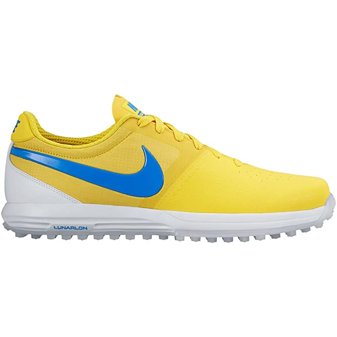 2cdad34686e8 Nike New Mens Lunar Mont Royal Golf Shoes Maize Yellow Blue White Sz 10 M   Amazon.ca  Clothing   Accessories