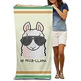 No Prob- Llama Bath Towels Beach Towels Pool Towels Adults Soft Absorbent