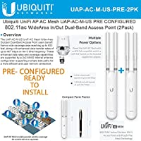 Ubiquiti UniFi AP AC Mesh UAP-AC-M-US [PRE CONFIGURED] In/Out Dual-Band Access PointUS (2 Pack)