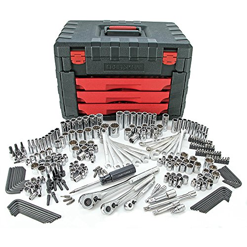 Craftsman 270pc Mechanics Tool Set with 3-Drawer Chest 12133 (Craftsman Tool Box Set)