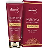 StBotanica NUTRITIVO Pomegranate Radiant Glow Skin Balancing Face Wash - No Parabens, Sulphate, Silicones - 100mL