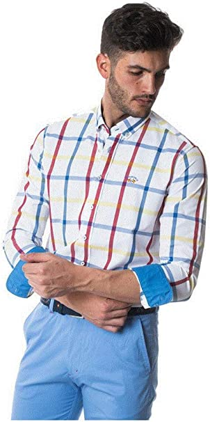 SPAGNOLO PAUL & ESTHER Camisa Cuello Boton Popelin 0025: Amazon.es: Ropa y accesorios