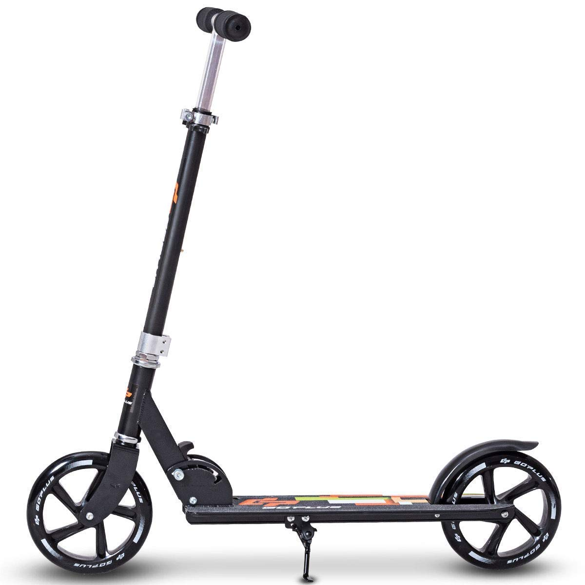 GYMAX Kick Scooter, Folding Big Wheel Scooter Deluxe Aluminum Glider Adjustable Height with Kickstand, for Adult Teen by GYMAX