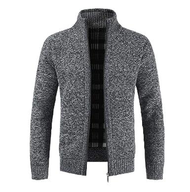 65330c8f79e9c1 Hellomiko Dicke Nadel Plus samtiger Dicker Pullover mit Reißverschluss- Cardigan-Pullover: Amazon.de: Bekleidung