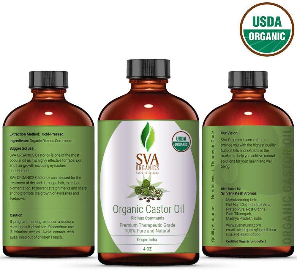 Amazon.com: SVA Organics 100% Natural Aceite de Ricino ...