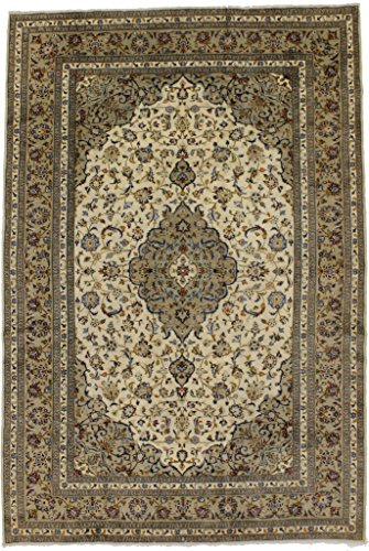 - Fanciful S Antique Rare Cream Kashan Persian Style Rug Oriental Area Carpet Sale 8X12