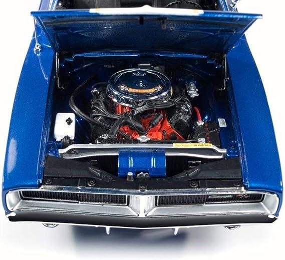 AUTOWORLD AW231 RACING DREAMS HAWAIIAN 1969 DODGE CHARGER 1//18 DIECAST CAR BLUE