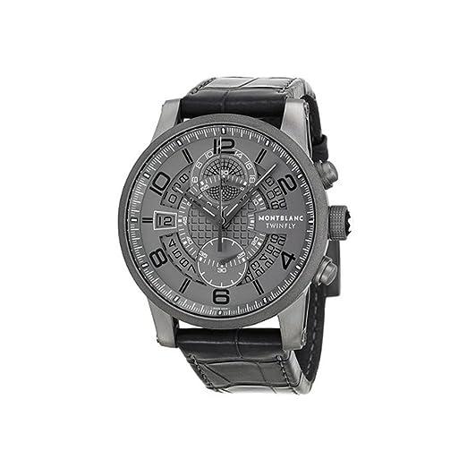 Montblanc Reloj de hombre automático 43mm correa de cuero de cocodrilo 107338: MontBlanc: Amazon.es: Relojes