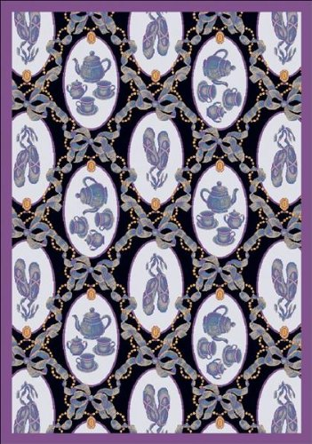 Joy Carpets Ribbons - Joy Carpets - Ribbons & Bows - Navy 7'8