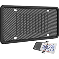 Silicone License Plate Frame, Universal American Auto License Plate Holder, Rust-Proof Rattle-Proof Weather-Proof with 3…