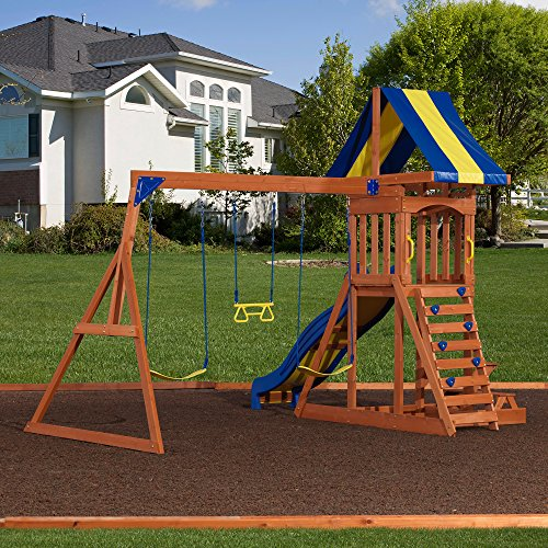 Backyard Discovery Providence All Cedar Wood Playset Swing Set