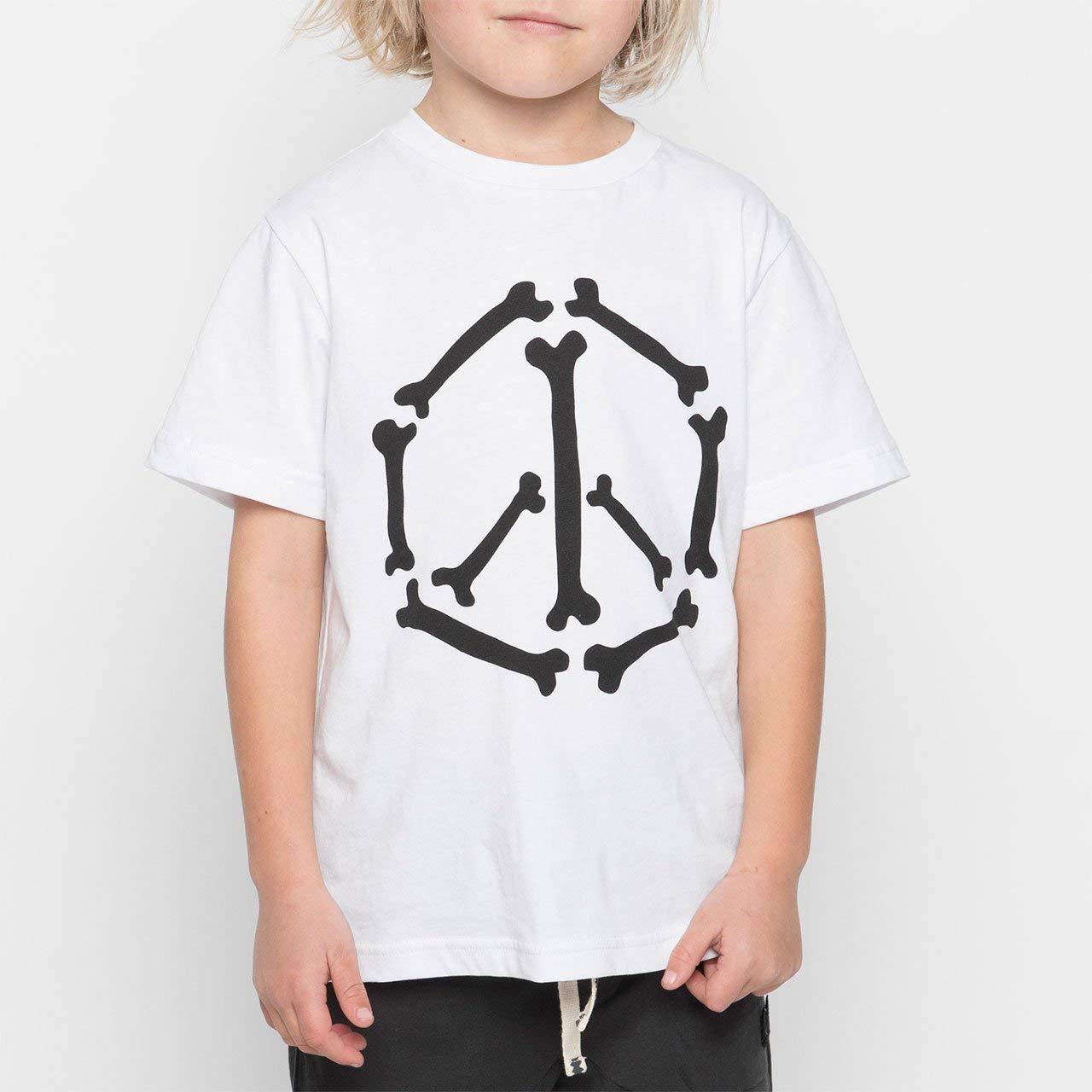 Youth Boys Peace Bones Tee White Size 14 Munster Kids Munster