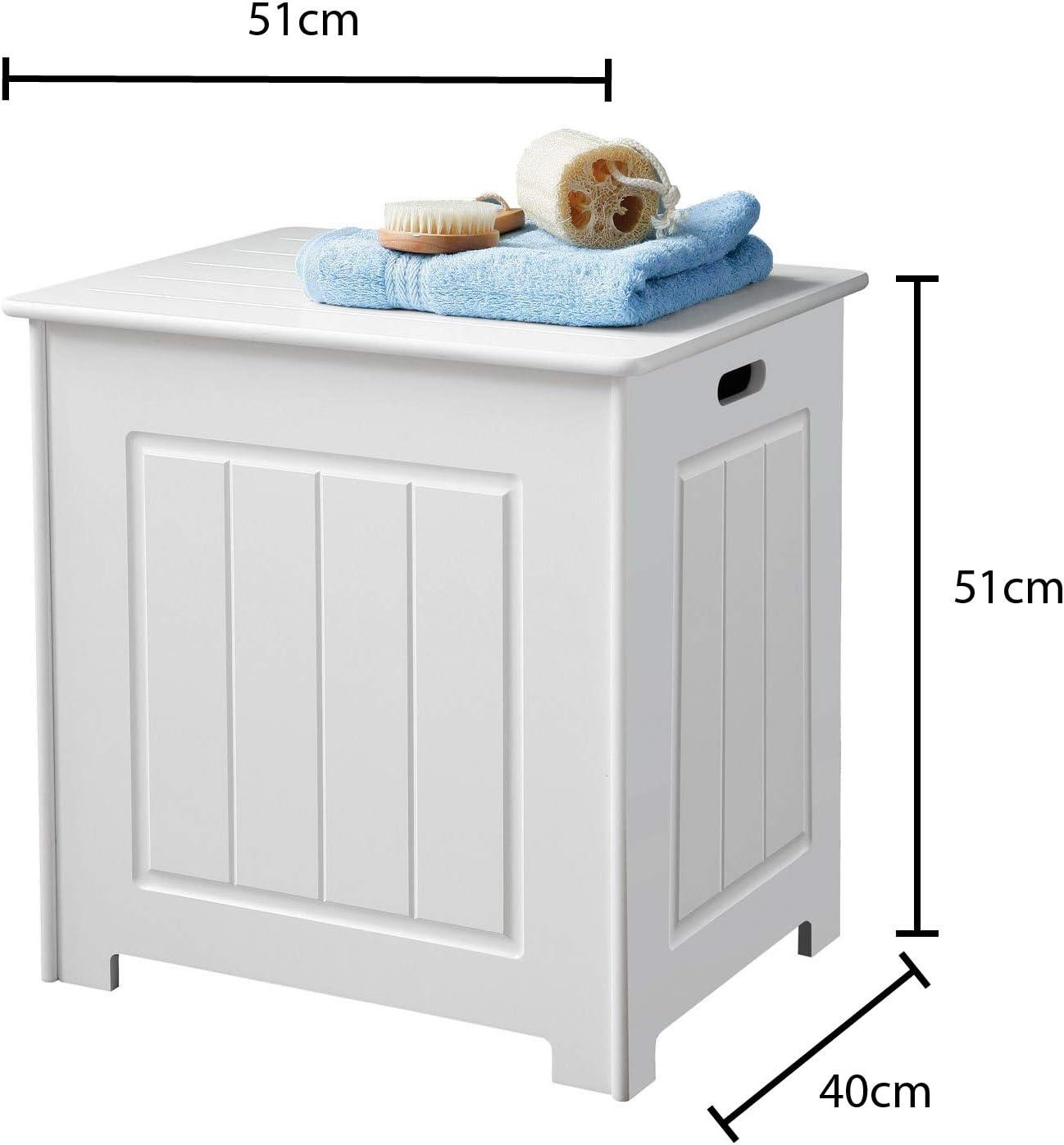 Large white laundry storage hamper basket bathroom bedroom accessory decor gift