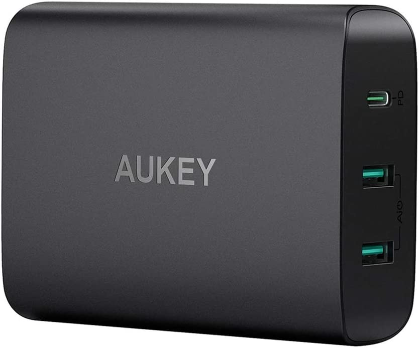AUKEY USB C Charger with 60W Power Delivery 3.0 & Dual Port USB C Wall Charger, Compatible with MacBook/Pro, Dell XPS, iPhone 11/11 Pro/Max, AirPods ...