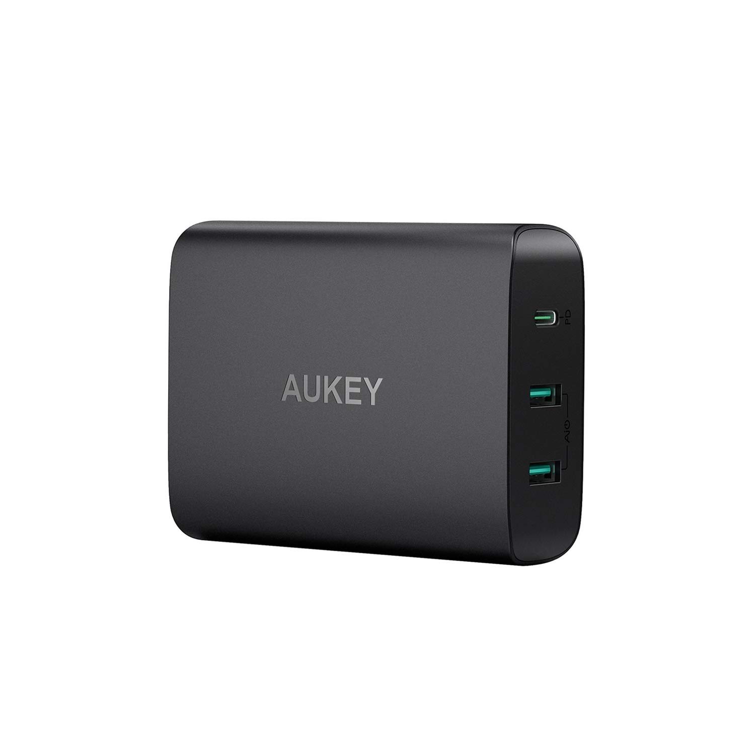 AUKEY USB C Charger with 60W Power Delivery 3.0 & Dual Port USB Charger, Compatible MacBook/Pro, Dell XPS, iPhone 11/11 Pro/Max/XS/XR, Samsung Galaxy S8 / S8+ / Note8 and More by AUKEY
