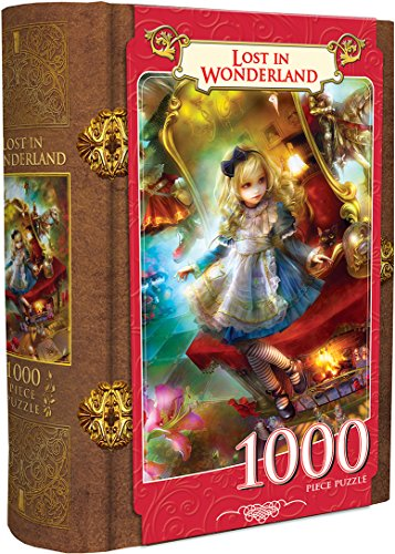 MasterPieces Book Boxes Fairytale Jigsaw Puzzle, Lost in Wonderland, Alice, Collectible Box with a Magnetic Closure, 1000 Pieces ()