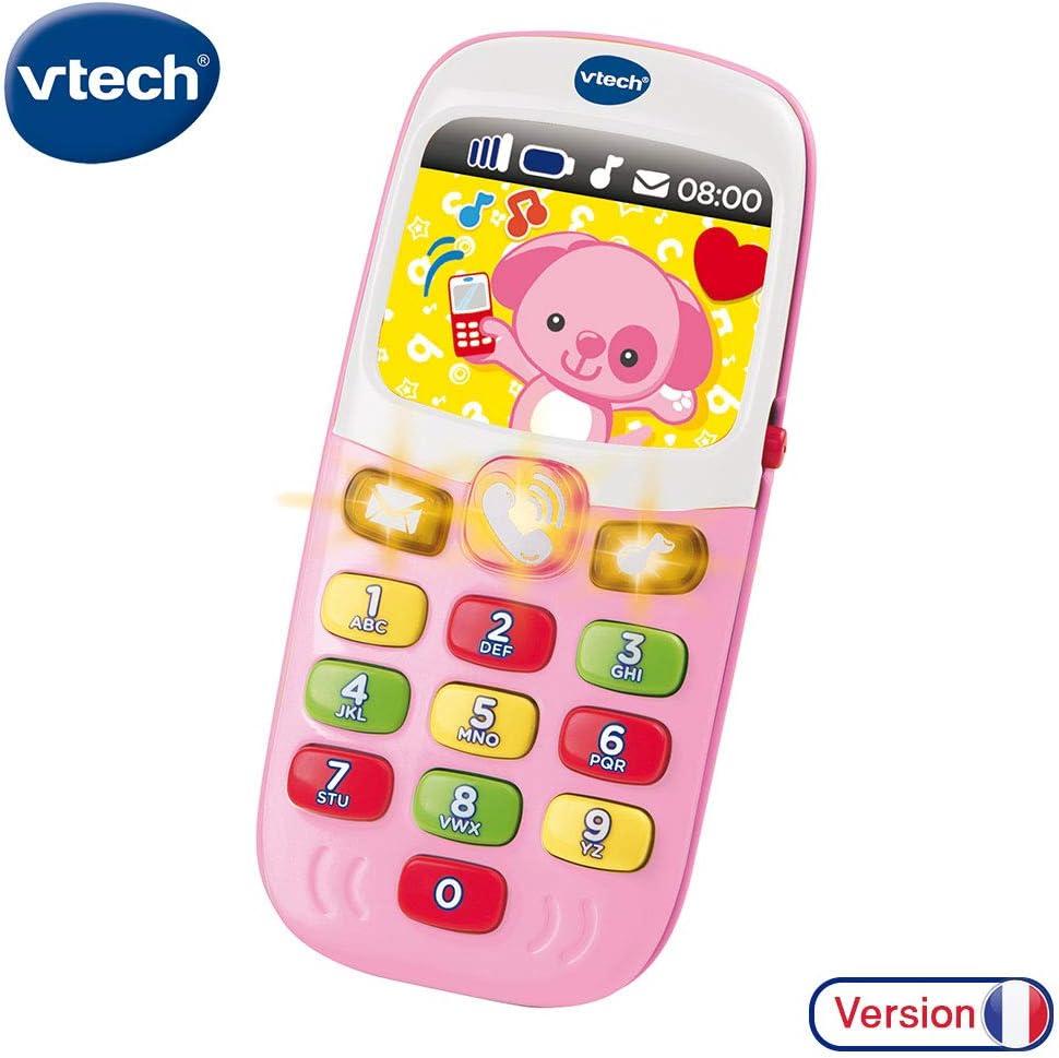 VTECH Baby Smartphone Bilingue Rose: Amazon.es: Juguetes y juegos