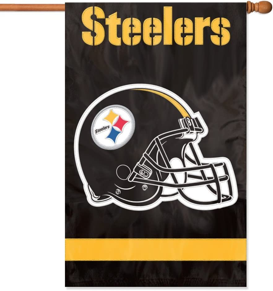 """B0002GUCZK Party Animal NFL Applique House Banner Flag, 44"""" x 28"""" 61rSsVcOvdL"""