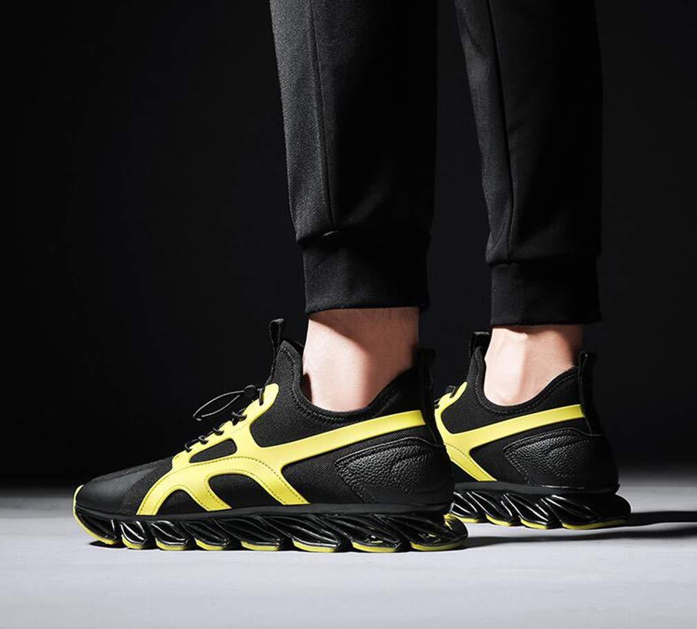 Hy Laufschuhe für Herren Herren Herren Slip-Ons für den Frühling Herbst Outdoor-Wanderschuhe Trekkingschuhe (Farbe   Gelb Größe   42) 3f9eec