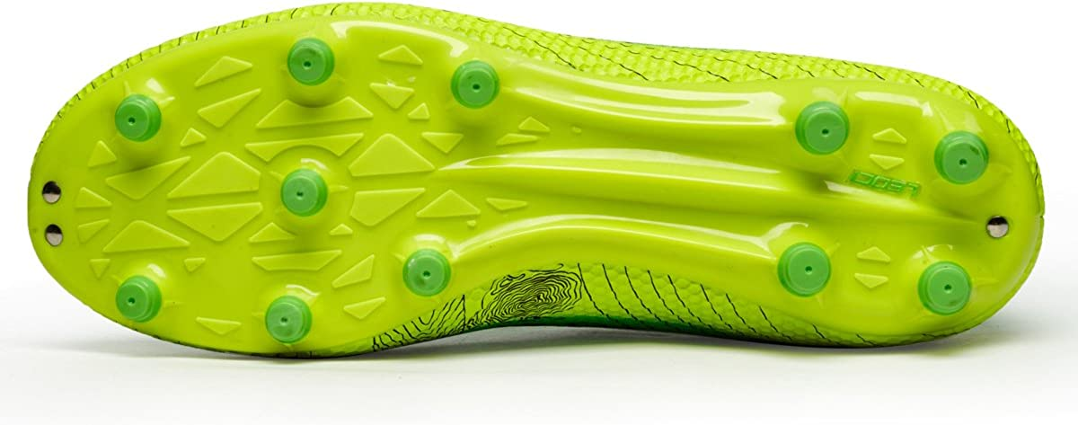 M 5.5 D US, Green LEOCI Performance Mens Soccer Shoe Outdoor Soccer Cleat
