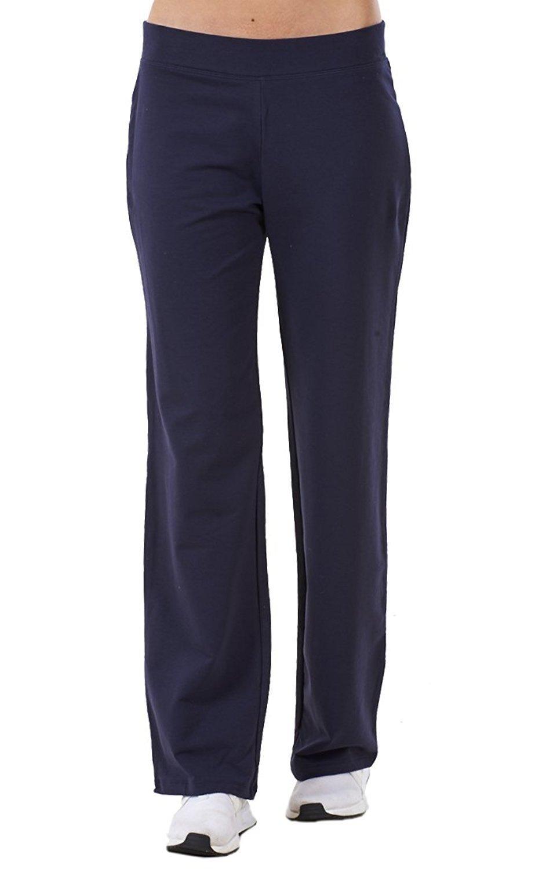 Ex Famous Store Ladies Cotton Stretch Tracksuit Bottoms Sports Gym Straight Leg Joggers Pants