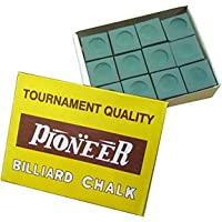 Formula Sports Pioneer Snooker Pool Billiards Cue Chalk, 12 Pieces Pack, Green