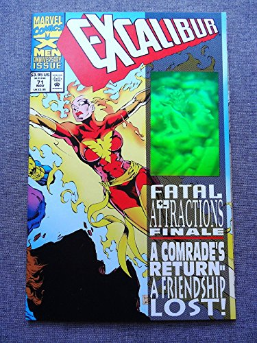 "Excalibur #71 ""Fatal Attractions"" Hologram Cover X-Men 50th"