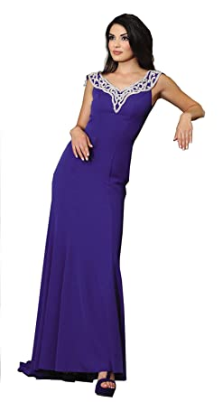 Royal Queen RQ7297 Prom Stretchy Evening Formal Gown (16, Royal Blue)
