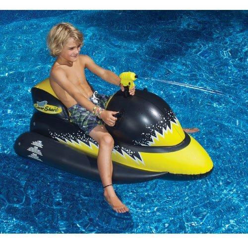 Review Laser Shark Wet Ski Squirter Pool Float Toy