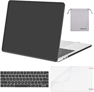 MOSISO MacBook Pro 13 inch Case 2019 2018 2017 2016 Release A2159 A1989 A1706 A1708, Plastic Hard Shell Case&Keyboard Cover&Screen Protector&Storage Bag Compatible with MacBook Pro 13, Space Gray