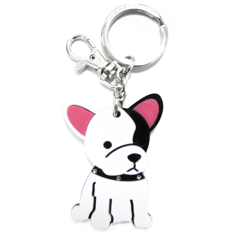 Amazon.com: foufou perro llavero (acrílico, Bulldog francés ...