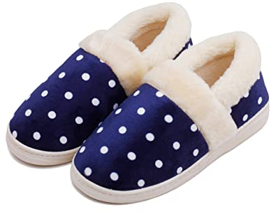 Amazon.com | Blubi Mens Cute House Slippers Bedroom Slippers ...