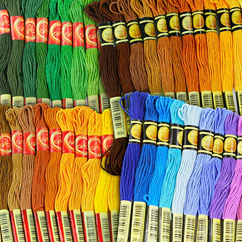Embroidery Thread - Full 477 Skeins Rainbow Color Embroidery Floss Set - Excellent Cross Stitch Threads Friendship Bracelets Kit - $49.95