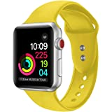 Sport Band For Apple Watch 42mm 38mm,Soft Silicone Strap Replacement Wristbands For Apple Watch Sport Series 3 Series 2 Series 1