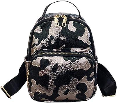 Mochila Escolar Reino Unido para mujeres y chicas de Viaje para Excursionismo para Lentejuelas Mochila Bolso de hombro de Dama