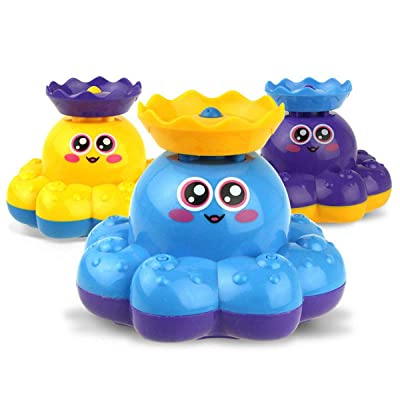 iFCOW Kids Bathtub Toy, Baby Bath Toy Electric Rotating Water Spray Bathing Toy Kids Toddler Bathroom Toy: Toys & Games