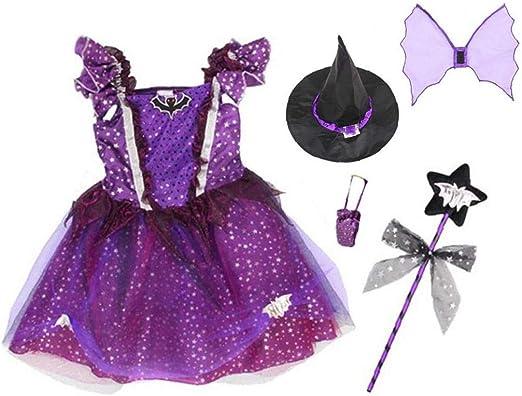 JPXyDfxn Disfraces Bruja del Traje Clásico De Halloween Partido ...