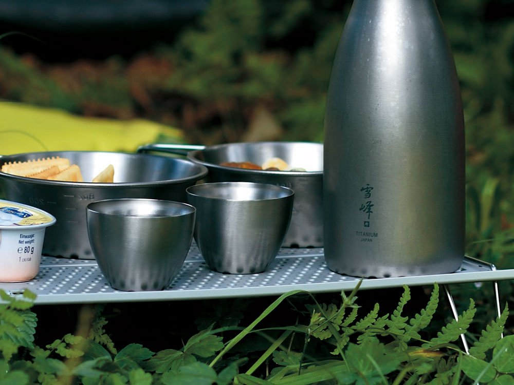 Snow Peak Men's Sake Insulated Stacking Cup, Silver, One Size by Snow Peak (Image #3)