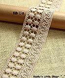Pretty Vintage Style Beige 100% Cotton Crochet Lace Trim (5.5 cm...