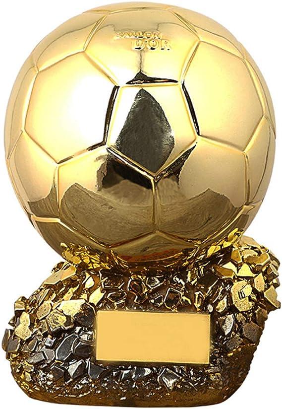 2020 Trofeo de Fútbol balón de Oro de fútbol Liga Ventiladores de la Taza de Recuerdo de galvanoplastia réplica de Resina Modelo de Proceso anticorrosión no se desvanece de Letras Gratis,25cm: Amazon.es: