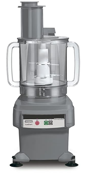 Waring Commercial FP2200 Batch Bowl and Continuous-Feed Food Processor, 6-Quart