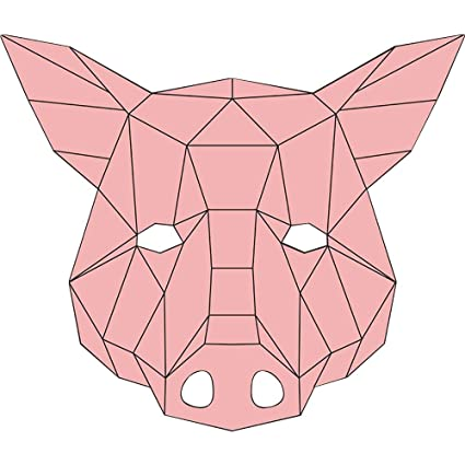 Amazon com: Cosplay Mask DIY Animal Mask Cardboard Breathable
