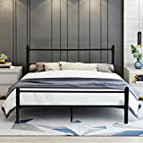 GreenForest Heavy Duty Bed Frame Full Size No Squeaky Metal Frame Bed with Headboard and Footboard Steel Slat Bed Platform Mattress Support Foundation